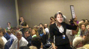 Rio+20: Nick Clegg speech interrupted by protester