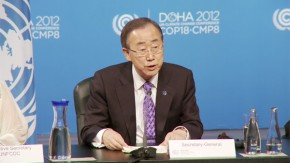 COP18: Ban Ki-moon warns window of opportunity on climate change is closing