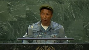 Pharrell Williams urges UN action on climate change